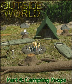 Outside World: Part4 - Camping Props Extended License 3D Models Gaming Extended Licenses 3-d-c