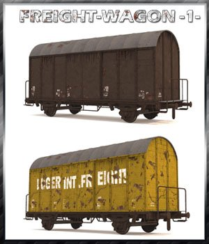 Freight Wagon 1 Extended License 3D Models Gaming Extended Licenses 3-d-c
