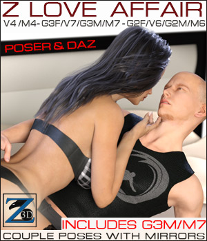 Z Love Affair - V4/M4 - G2F/G2M - G3F/G3M 3D Figure Essentials Zeddicuss