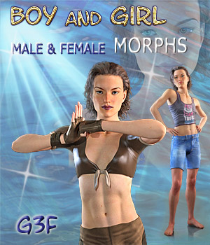 BOY-GIRL Genesis 3 Female 3D Figure Assets Mar3D
