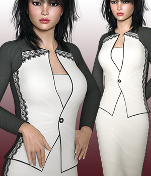 Birandes Dress for G3F 3D Figure Essentials RPublishing