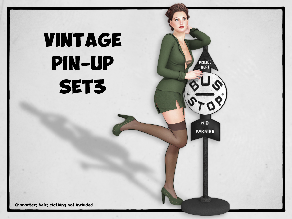 VINTAGE PIN-UP Set3