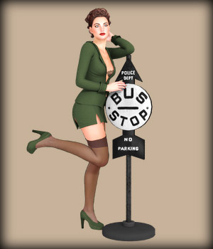 VINTAGE PIN-UP Set3 3D Models EdArt3D
