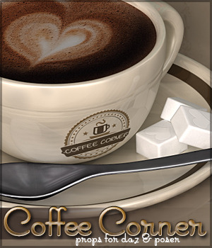 Coffee Corner 3D Models Sveva