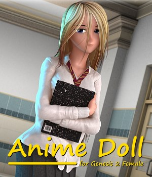 Anime Doll for Genesis 2 Female 3D Figure Essentials 3doutlaw