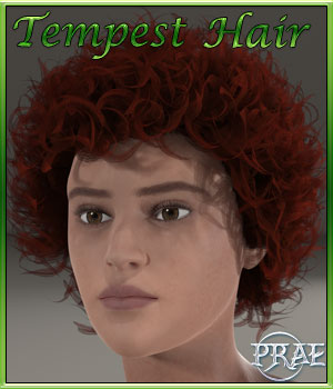 Prae-Tempest Hair For Pauline 3D Figure Assets prae