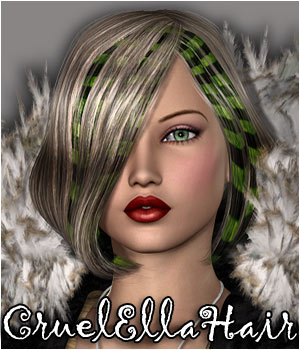 Cruel Ella Hair - Extended License 3D Figure Assets Extended Licenses RPublishing