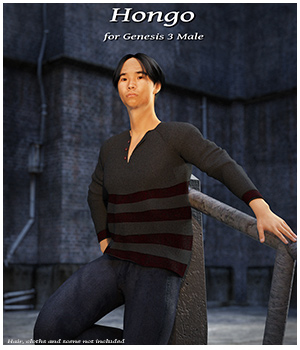 Hongo for Genesis 3 Male 3D Figure Essentials fly028