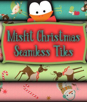 Misfit Christmas Seamless Tiles  A Merchant Resource 2D Merchant Resources fictionalbookshelf
