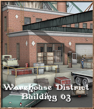 Warehouse District, Building 03 3D Models DreamlandModels