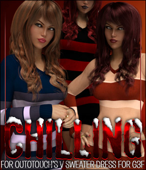 Chilling for V Sweater Dress 3D Figure Assets ShanasSoulmate