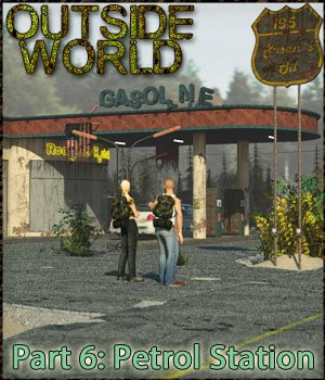 Outside World: Part6 - Petrol Station Extended License 3D Models Gaming Extended Licenses 3-d-c