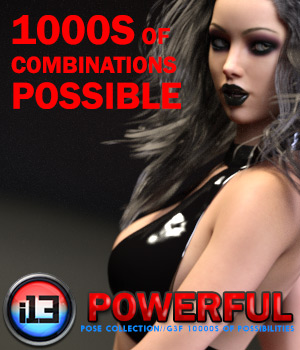 i13 POWERFUL Mega Organized Pose Collection for the Genesis 3 Female(s) 3D Figure Assets ironman13