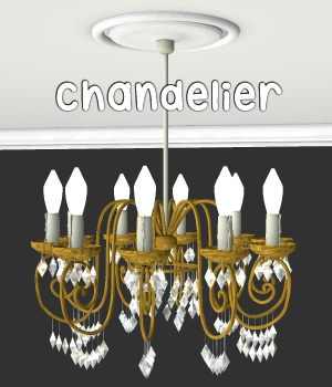 Chandelier 3D Models greenpots