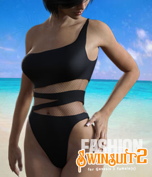 Fashion Swinsuit2 for Genesis 3 Females 3D Figure Assets xtrart-3d