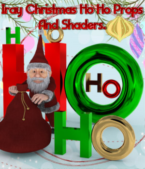 Iray Christmas Ho Ho Props And Metal Shaders 3D Figure Essentials 3D Models fictionalbookshelf