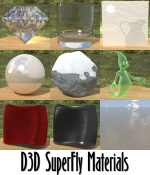 D3D SuperFly Materials by Dimension3D