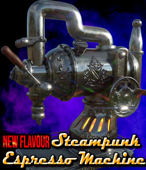 Steampunk Espresso Machine 3D Models Cybertenko