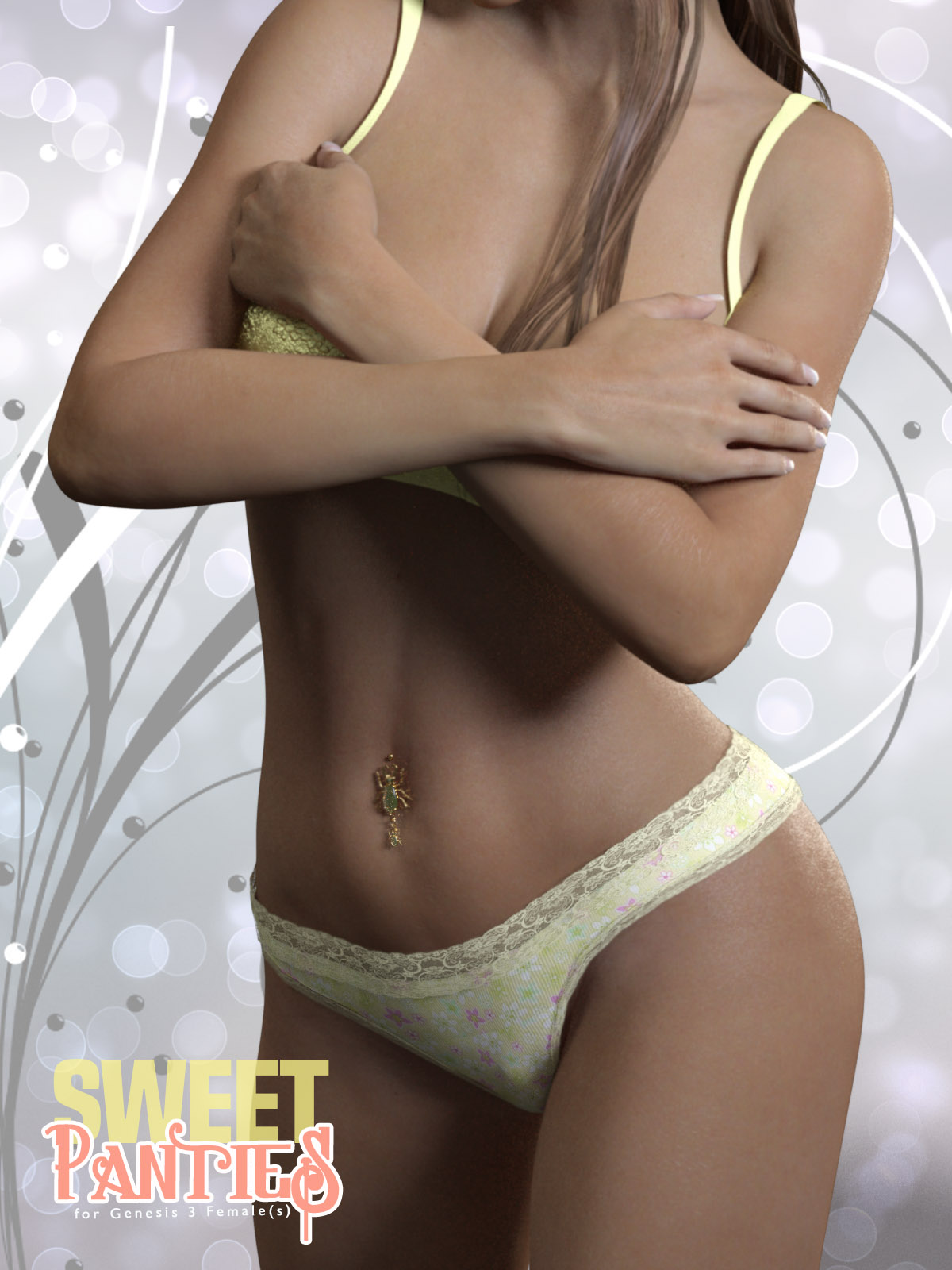 Sweet Panties for Genesis 3 Females by xtrart-3d