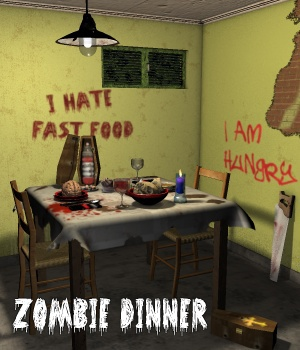 Zombie dinner - Extended License 3D Models Gaming Extended Licenses greenpots