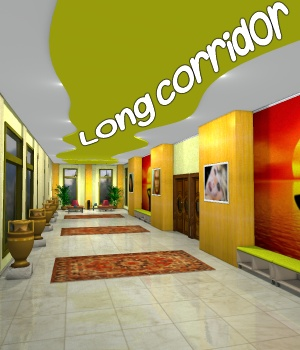 Long corridor - Extended License 3D Models Extended Licenses greenpots