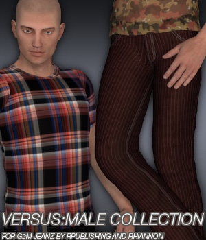 VERSUS:Male Collection - G2M Jeanz plus FREE bonus t-shirt 3D Figure Assets Anagord