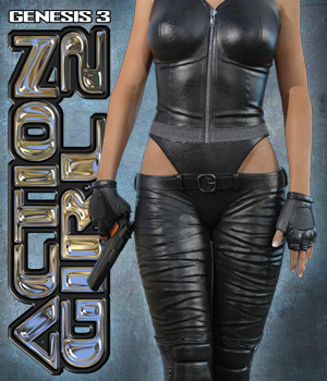 Exnem Action Girl 2 for G3 3D Figure Assets exnem