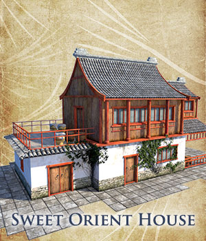 Sweet Orient House 3D Models 1971s
