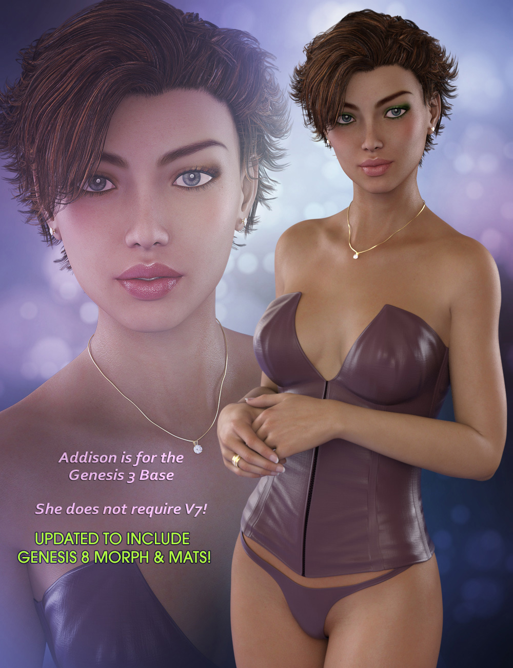 Addison for Genesis 3 & Genesis 8 Females
