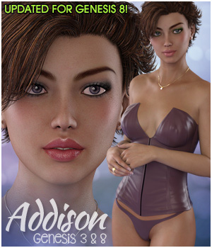 Addison for Genesis 3 & Genesis 8 Females 3D Figure Assets 3DSublimeProductions