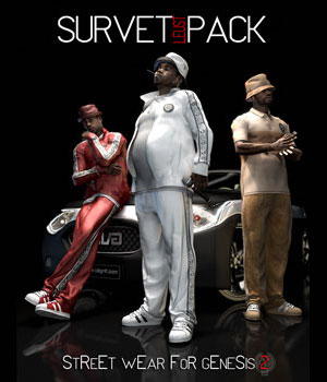SURVET LEUST PACK for Genesis 2 Male(s) 3D Figure Assets samsil