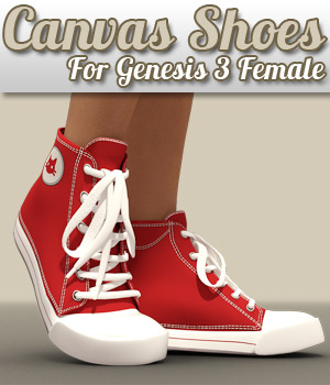 Canvas Shoes for G3 female(s) 3D Figure Assets powerage