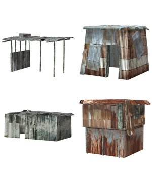 Shanty Town Buildings 1: Set 3 (for Poser) 3D Models VanishingPoint