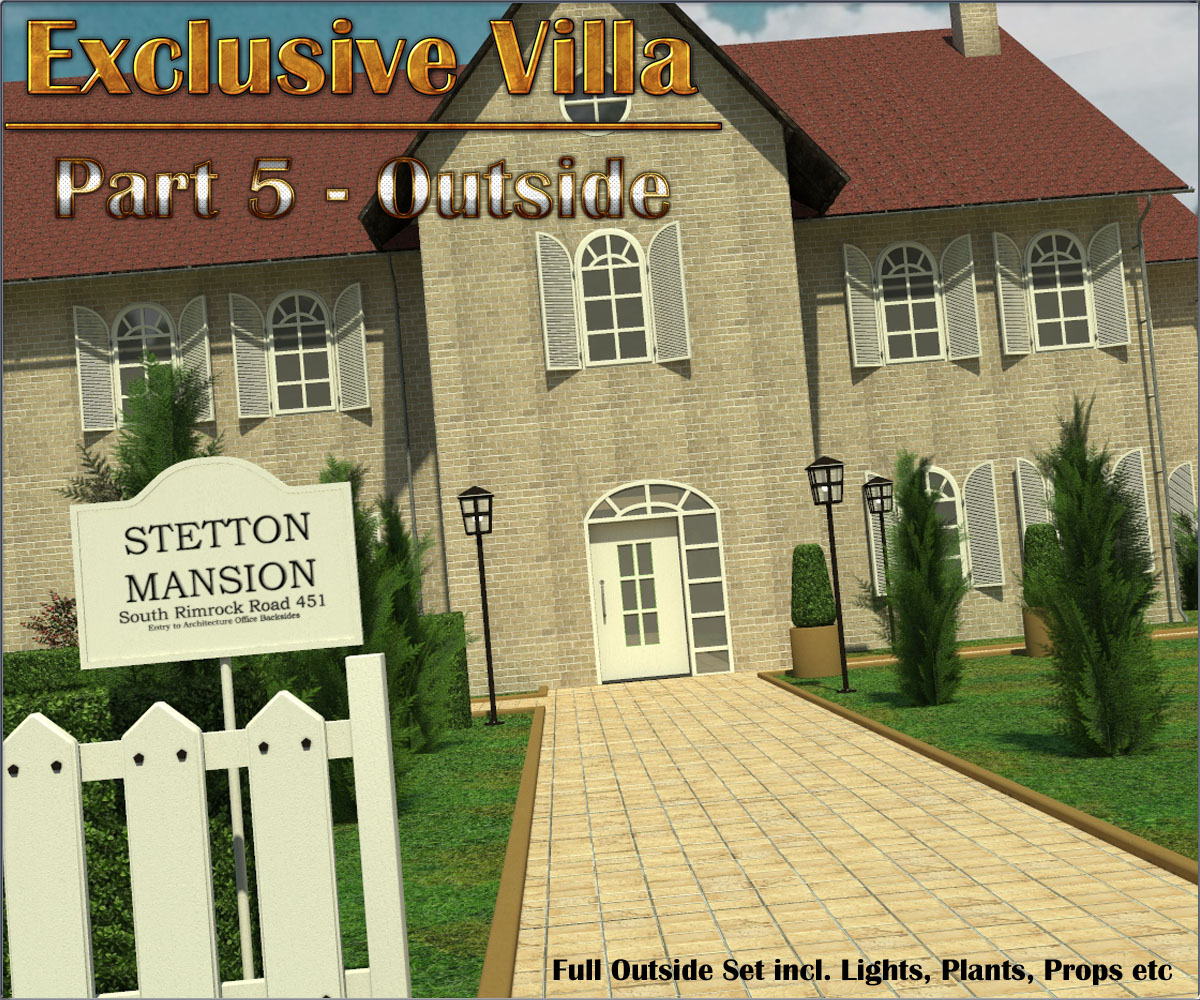 Exclusive Villa 5: Outside Set by 3-d-c