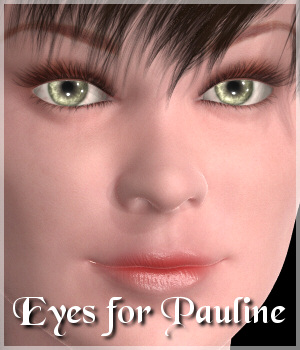 Eyes for Pauline 3D Figure Assets Lully