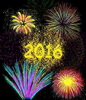 Fire Works and New Year 2016 brushes for Photoshop 2D labellamagica