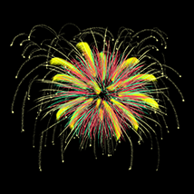 Fire Works and New Year 2016 brushes for Photoshop image 1