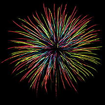 Fire Works and New Year 2016 brushes for Photoshop image 2