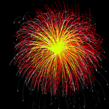 Fire Works and New Year 2016 brushes for Photoshop image 3