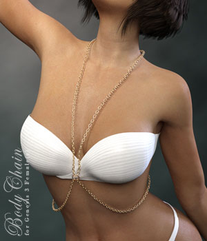 Body Chain for Genesis 3 Female 3D Figure Assets xtrart-3d