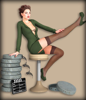 VINTAGE PIN-UP Set6 3D Models 3D Figure Essentials EdArt3D