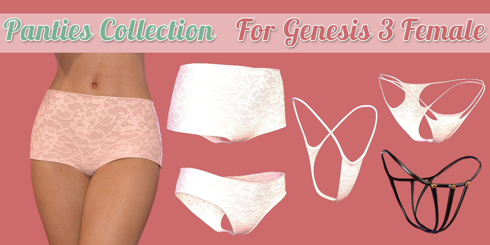 Panties Collection for G3 female(s) by powerage