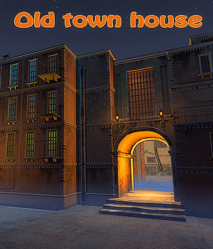 Old town house by 1971s