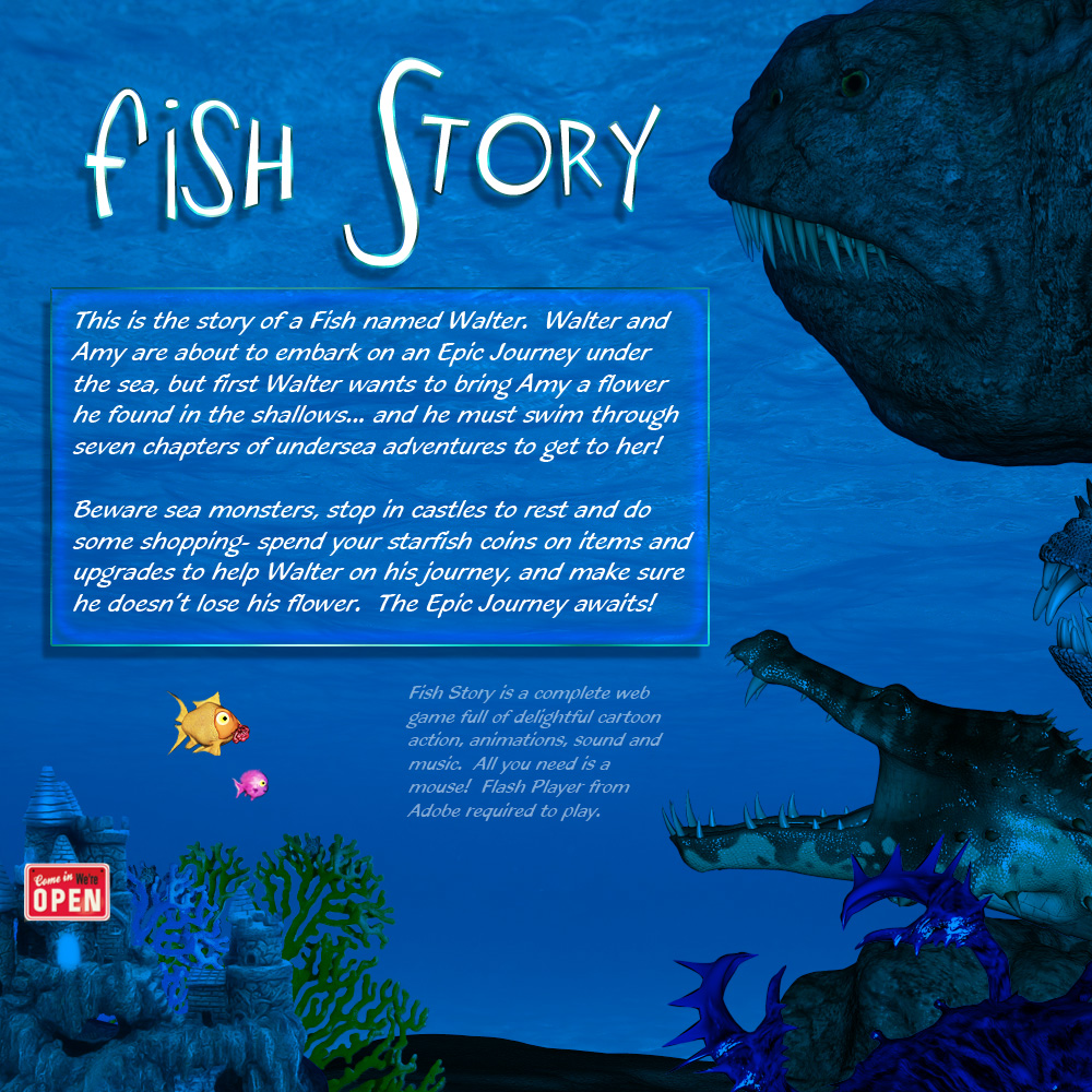 fish story 3d game models obj fbx darkworld