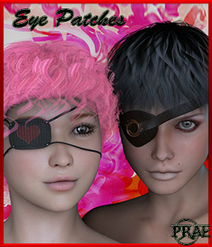 Prae-Eyepatches 3D Figure Essentials prae