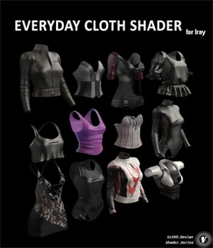 EcVh0 Daily Cloth Shader for Iray 3D Figure Assets EcVh0