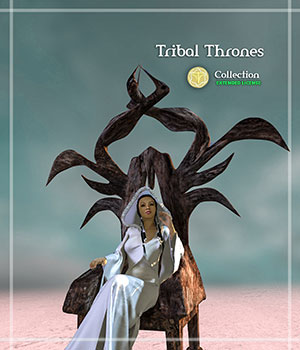 Tribal Thrones - Extended License 3D Models Gaming Extended Licenses HolyWonderWorld