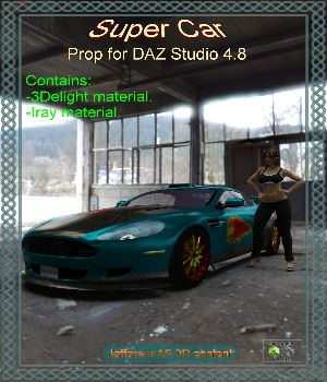 Super Car DAZ Studio 3D Models JeffersonAF