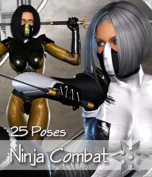 Ninja Combat 3D Figure Essentials Darkworld