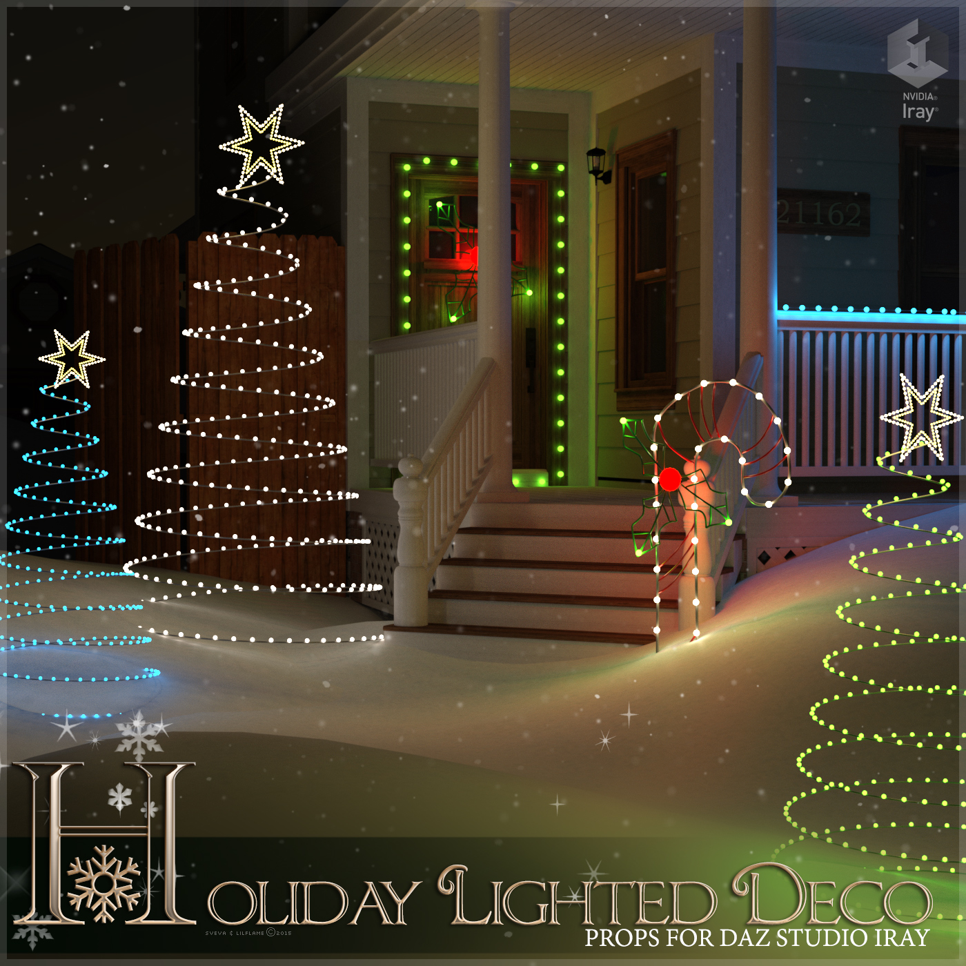 Holiday Lighted Deco